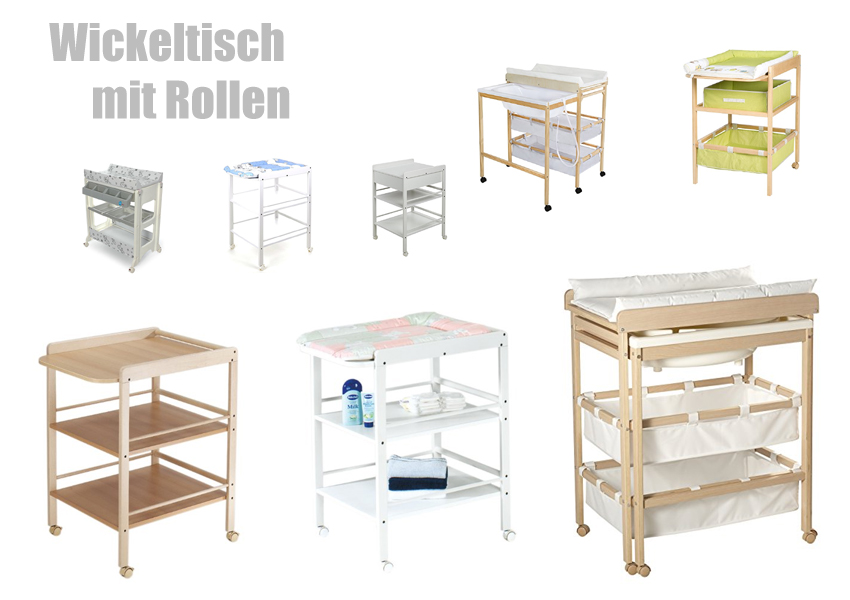 wickeltisch mit rollen. Black Bedroom Furniture Sets. Home Design Ideas